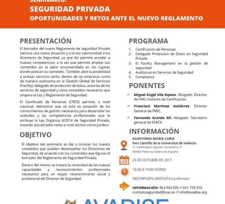 """Seminario """"Oportunidades y retos ante el nuevo Reglamento"""""""