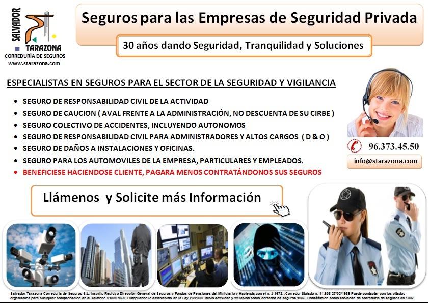 Seguros para empresas de Seguridad Privada
